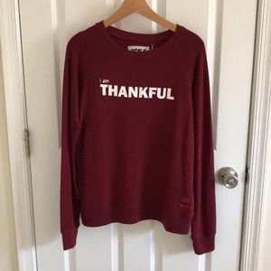 "Peace Love World ""I am Thankful"" Sweater"
